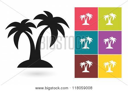 Palm vector icon