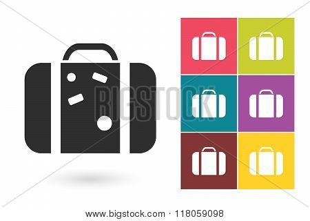Suitcase vector icon