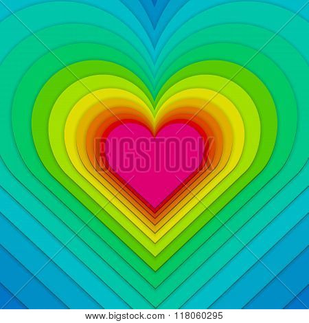 Multi-layered Heart Background