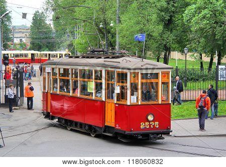 Retro Urban Transport Parade In Saint Petersburg, Russia