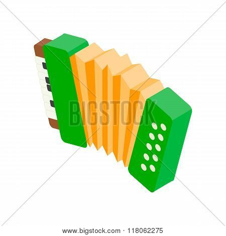 Accordion isometric 3d icon