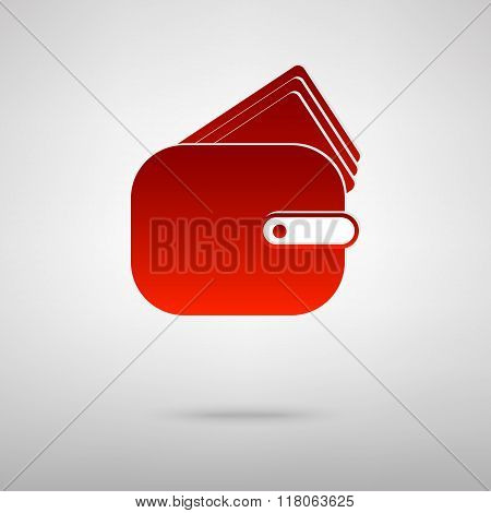 Red icon with shadow
