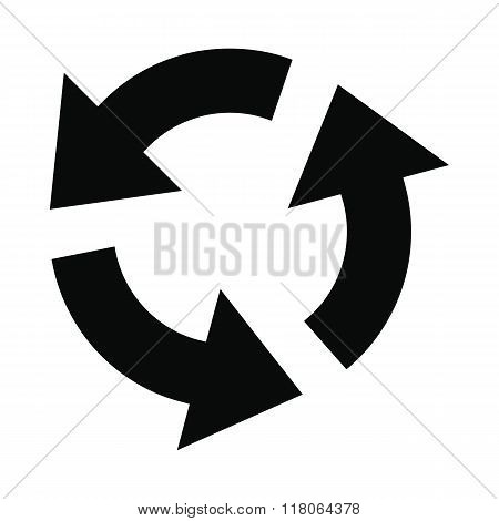 Circular arrows black simple icon