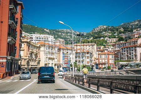 Movement of vehicles on streets of Monaco, Monte Carlo