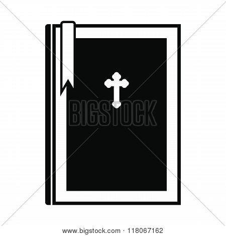 Bible book black simple icon