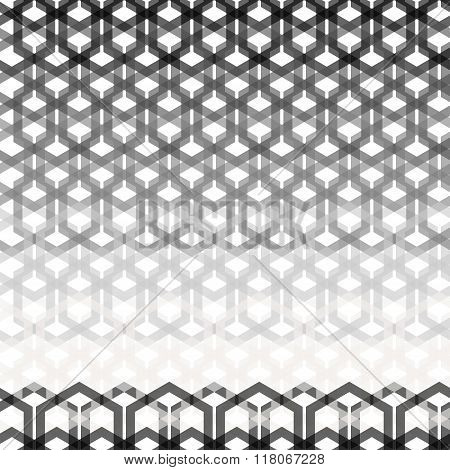 Seamless Geometric Abstract Pattern From Hexagon Wires