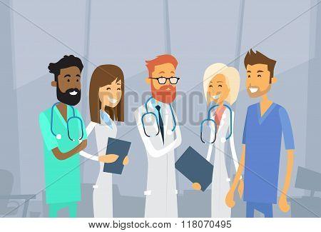 Group Medial Doctors Team Hospital