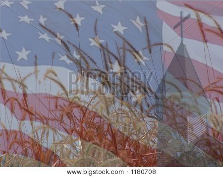 Farm And Flag Collage