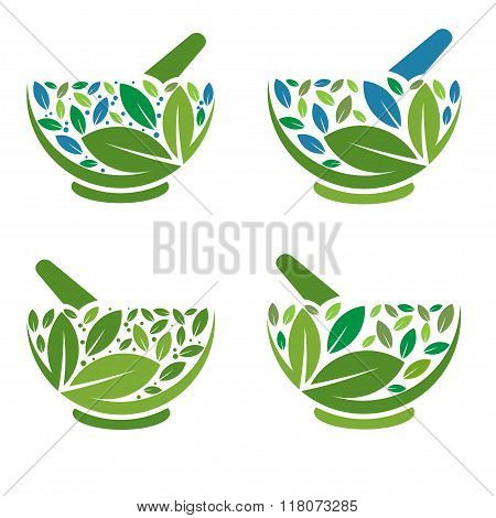 Herbal Mortar and pestle logo