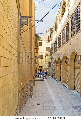 The Narrow Street In Coptic Quarter