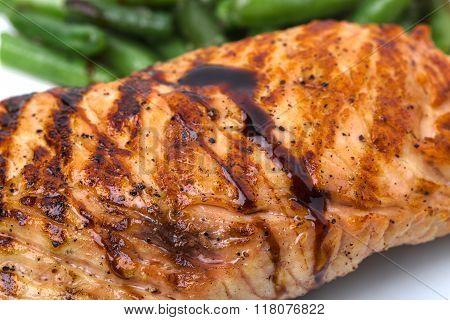 Delicious fried pork fillet.