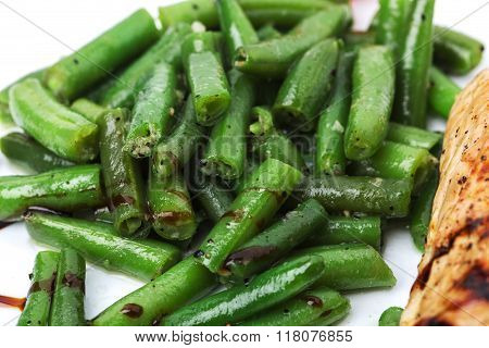Delicious fried french beans.
