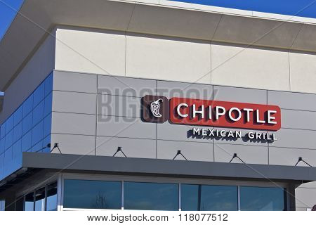 Indianapolis - Circa February 2016: Chipotle Mexican Grill Restaurant V