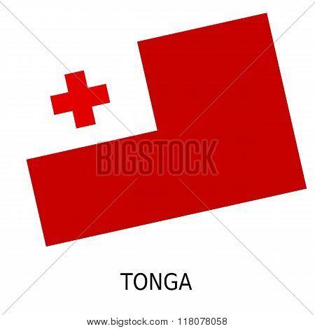 National Flag Of Tonga