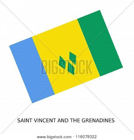 National Flag Of Saint Vincent And The Grenadines