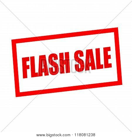 Flash Sale Red Stamp Text On White