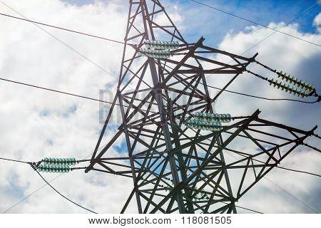 Close-up Of Electricity Pylon