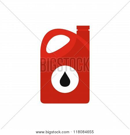 Plastic oil canister flat icon