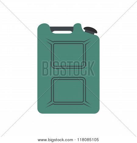 Metal canister flat icon