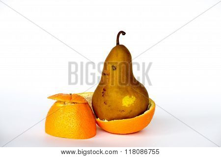 Pear Inside An Orange