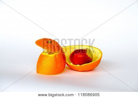Apple Inside The Orange