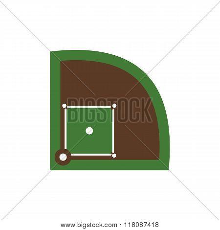 Baseball field flat icon