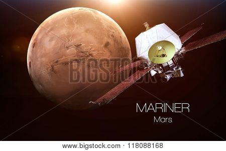 Mars - Mariner spacecraft. This image elements furnished by NASA.