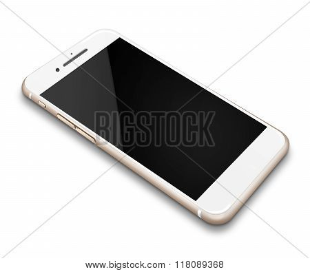 .realistic Mobile Phone Isolated On White Background.