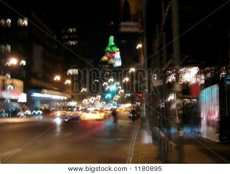 Manhattan Christmas Street Blur