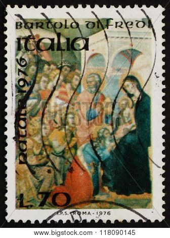 Postage Stamp Italy 1976 Adoration Of The Kings