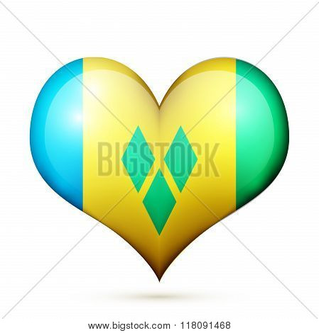 Saint Vincent and the Grenadines Heart flag icon