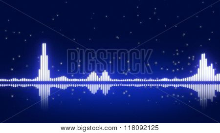 Blue Digital Equalizer
