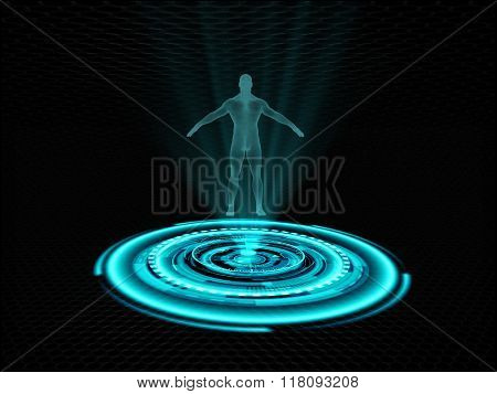 Human hologram projection