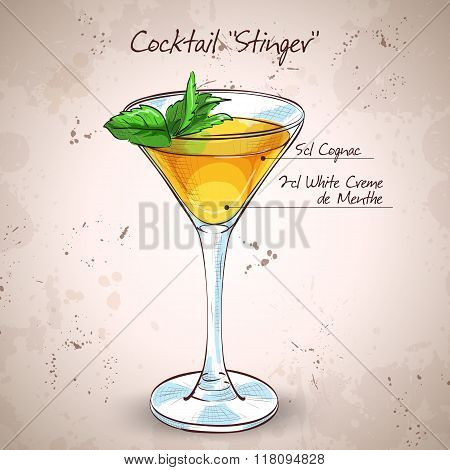 Cocktail alcoholic Stinger