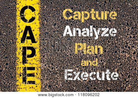 Business Acronym Cape Capture Analyze Plan And Execute