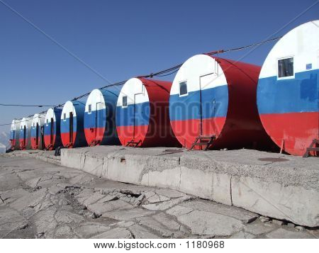 The Famous Barrels Of Mount Elbrus