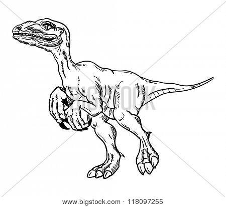 vector - dinosaur , isolated on background