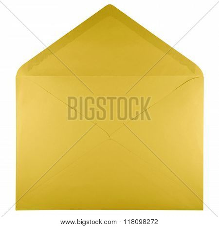 Blank Open Envelope - Yellow