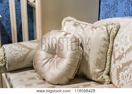 Beautiful Pillow on sofa at a home