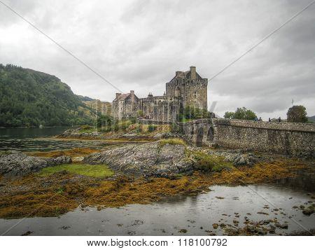 Bridge to Eilean Donan Castle (Scotland, UK)