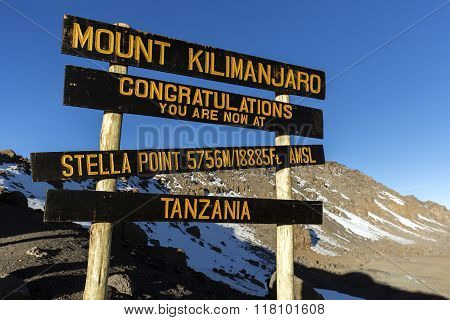 Stella Point on Mount Kilimanjaro