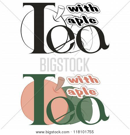 Vector labels on the theme of tea