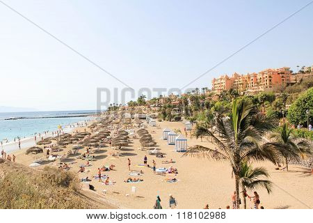 View of Las Teresitas Beach Tenerife Island Spain