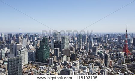 Tokyo Tower and City Skyline
