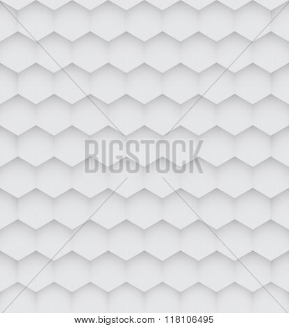 Abstract White Hexagon Seamless Pattern