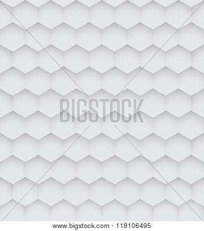 Abstract White Hexagon Seamless Pattern