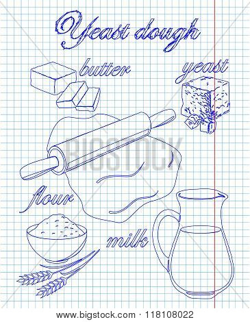 Dough Recipe Yeast With Milk, Butter, Flour,