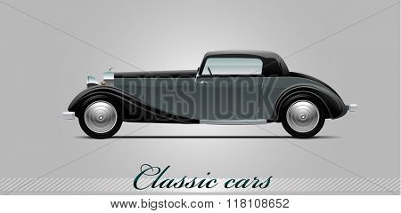 NOVI SAD, SERBIA - JANUARY 11, 2016: Vector illustration of Whittell Duesenberg