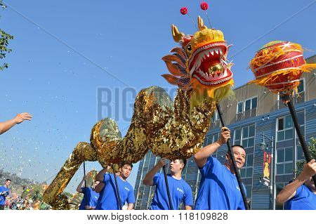 Chinese Dragon During The 117Th Golden Dragon Parade,