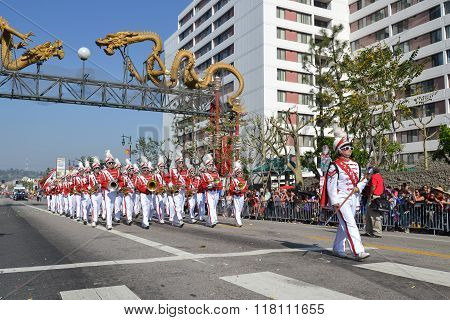 Marching Band During The 117Th Golden Dragon Parade